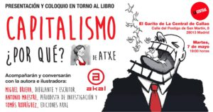 MADRID - Presentación libro: CAPITALISMO ¿POR QUÉ? de Atxe