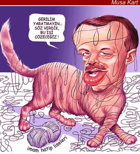 Viñeta de Musa Kart - Erdogan - Gato