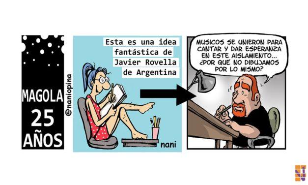 Más de 100 caricaturistas unidos durante el confinamiento por el coronavirus, gracias a la iniciativa de la humorista gráfica Nani