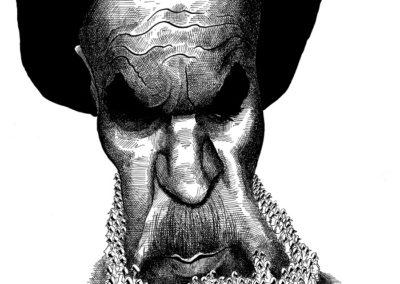 1979 - Las barbas de Jomeini. Viñeta de Antonio Moreira Antunes