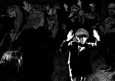 1982 - El gueto de Varsovia en Chatila. Viñeta de Antonio Moreira Antunes