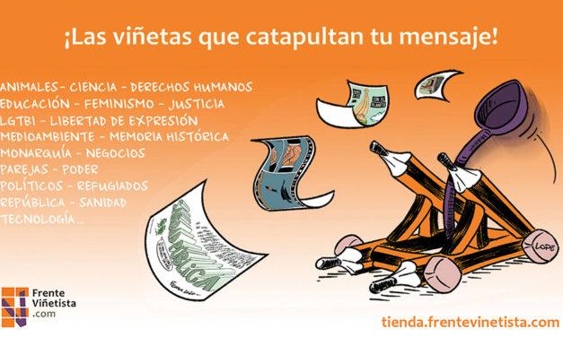 Más de 20 profesionales del humor gráfico se unen para crear una tienda de viñetas online inédita en España
